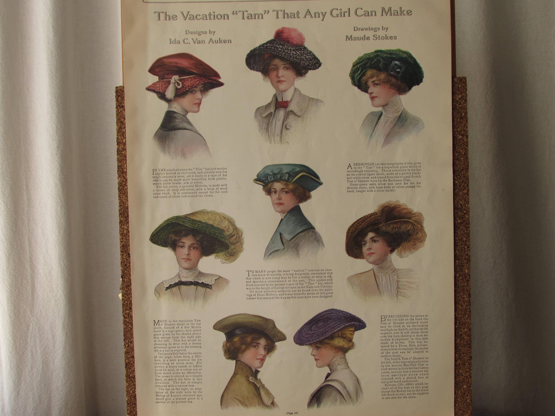 9edd2952576 Original Antique Magazine Color Illustration Ladies Home