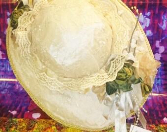 Doll's Hat Katherine's Collection Wayne Kleski Dolls Hat - Rare Doll Hats - #517c