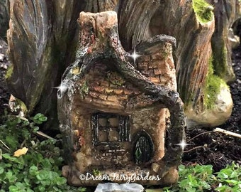 micro mini fairy garden house, fairy garden terrarium, tiny fairy house, miniature house, gnome house, tiny fairy house, small house