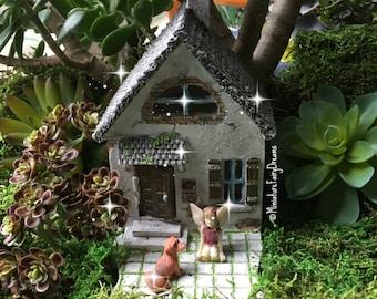 Bon Fairy Garden House, Fairy Garden Cottage, Tiny Fairy House, Miniature House,  Gnome