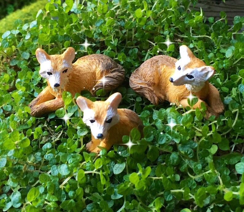 Fee Garten Füchse Miniatur Garten Fuchs Fee Garten Tiere Etsy