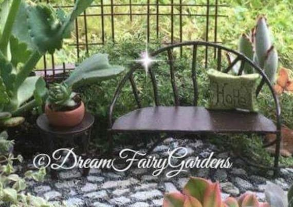 Astounding Iron Fairy Garden Bench And Table Miniature Garden Fairy Garden Love Seat Miniature Metal Bench Miniature Fairy Chair Evergreenethics Interior Chair Design Evergreenethicsorg