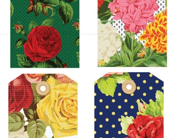 Pretty Floral Gift Tags - Set of 12
