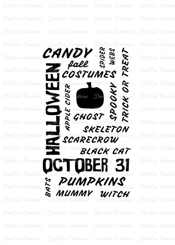 Halloween Subway Word Art SVG Cut File , SVG and PNG Format Digital Download
