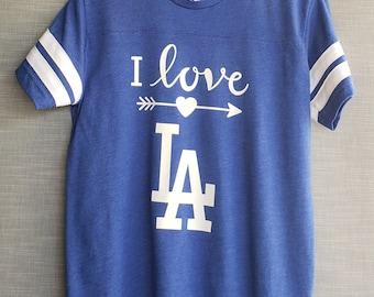 I Love LA Youth T-shirt. Youth Short sleeve Love LA T-shirt. Baseball Young Kids T-shirt. Dodgers Youth T-shirt. Gift Friendly.