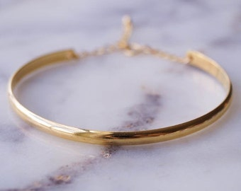 Lola Cuff Bracelet, Minimalist Bracelet, Gold Cuff Bracelet, Gold Bangle Bracelet, Simple Gold Bracelet, Adjustable Bracelet