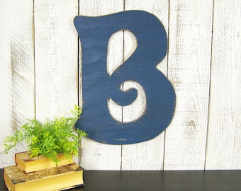 Rustic Letter Decor Rustic Letter B Sign Large Wooden Letter B Wall Decor Gallery Wall Decor Large Wood Letter B Nursery Decor Wall Letter