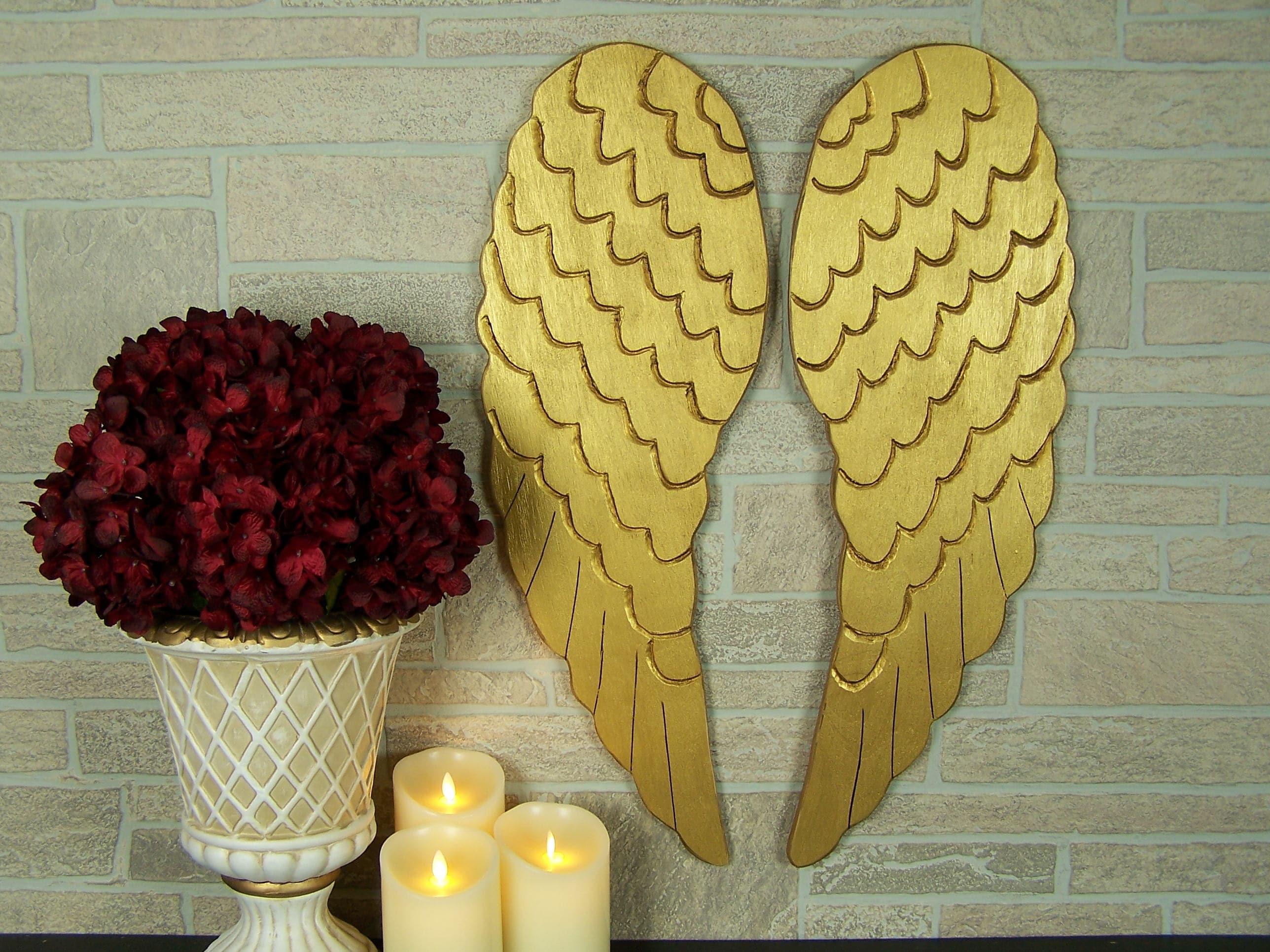 Large Angel Wings Wall Art Wooden Angel Wings Decor Angel Wall | Etsy