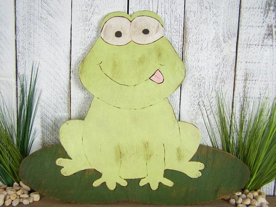 Frog Wall Art Wooden Frog Decor Frog Gift Frog Lover Gift Frog   Etsy
