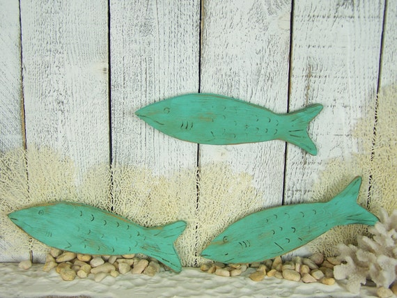 Wood Fish Wall Art Fishing Decor Beach House Decor Lake House | Etsy