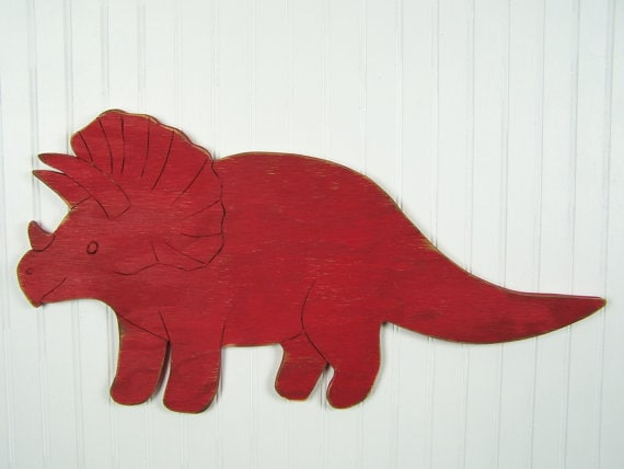 Triceratops Rustic Nursery Sign Dinosaur Decoration Dinosaur | Etsy