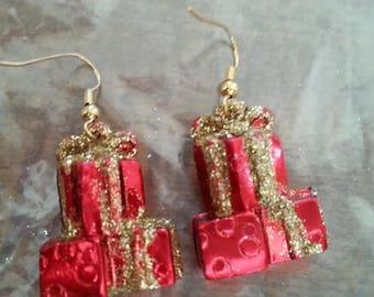 B#225  Christmas presents handmade earrings