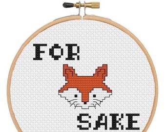 Digital File - Cross Stitch Pattern - For Fox Sake