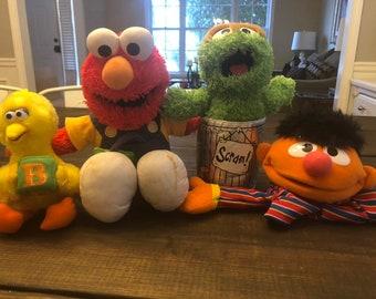 Items Similar To Vintage Sesame Street Characters Ernie Elmo