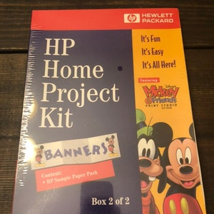 Vintage HP Home Project Kit Banners Box 22 Mickey Mouse SEALED new in box