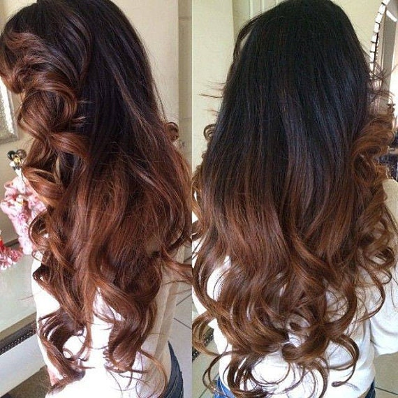 Balayage Dip Dye 8a Remy Ombre Balayage Human Invisible Hair Etsy