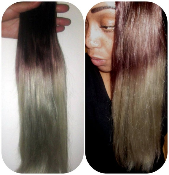 Cherie 8a Remy Ombre Balayage Human Hair Extensions Invisible Etsy