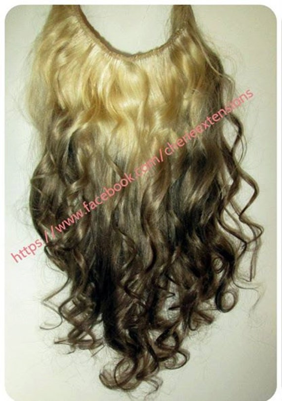 Reverse Ombre Balayage Human Invisible Hair Extensions Flip In Etsy