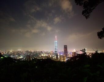 View of Taipei, Taiwan from Elephant Mountain
