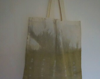Naturally Dyed Cotton Tote Bag