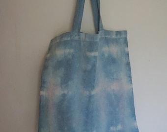 Naturally Dyed Cotton Tote Bag - Indigo
