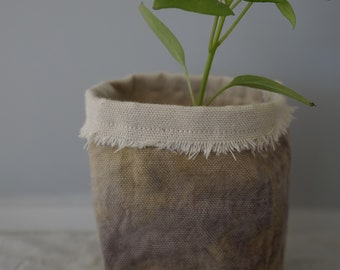 100% Cotton Fabric Planter - Red Onion Dye
