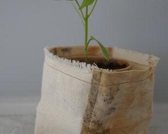 100% Cotton Fabric Planter - Eco Printing