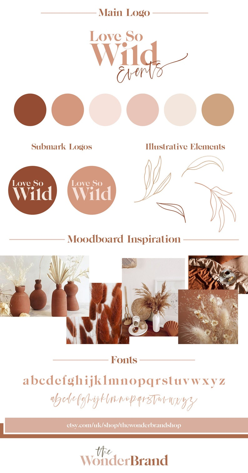 Love So Wild Bohemian Modern Branding Package Business Logo image 0