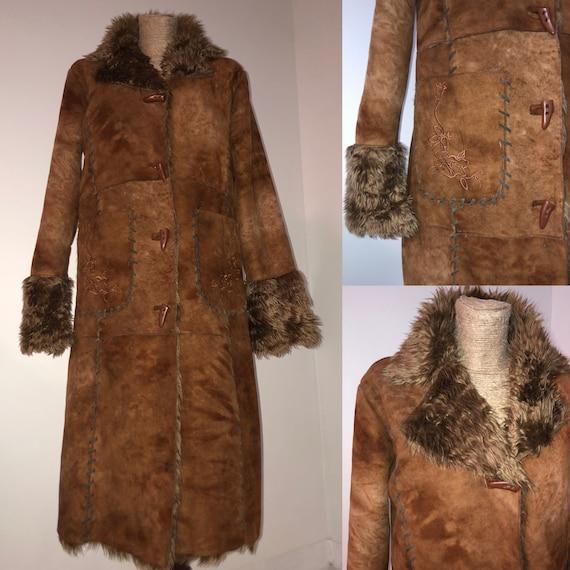 Vintage shaggy fur Afghan coat / Afghan coat / Pen