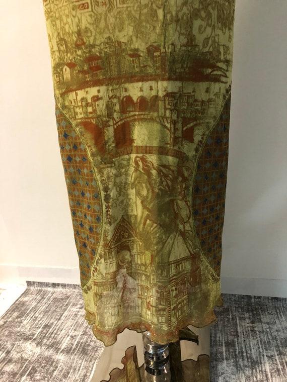 Vintage 90s mesh dress / Y2K tattoo dress / fisht… - image 7