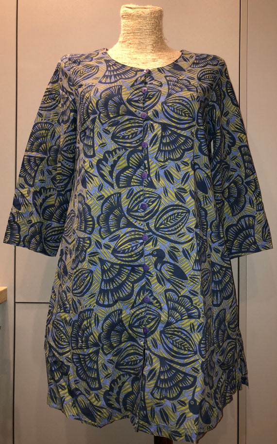 Gudrun Sjoden floral dress / tunic size S