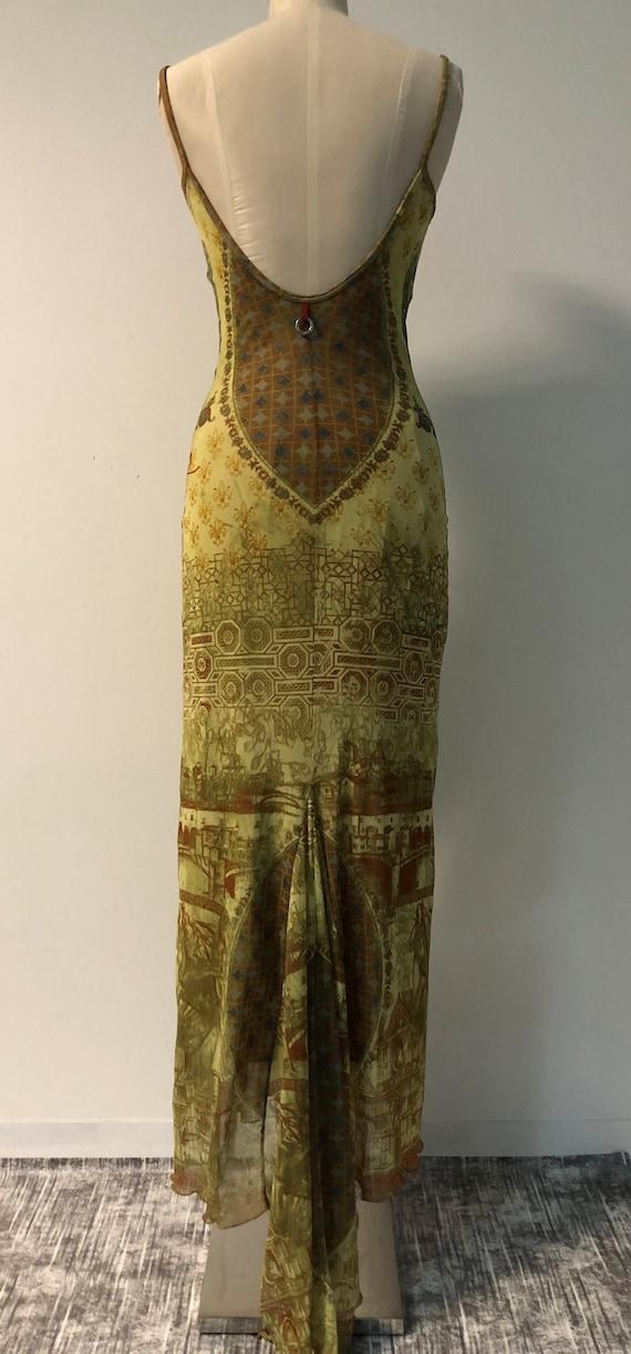 Vintage 90s mesh dress / Y2K tattoo dress / fisht… - image 2