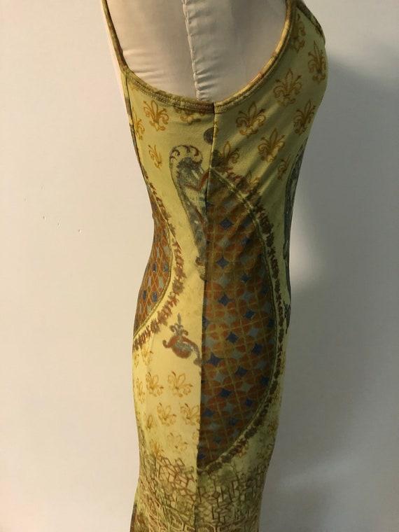 Vintage 90s mesh dress / Y2K tattoo dress / fisht… - image 5