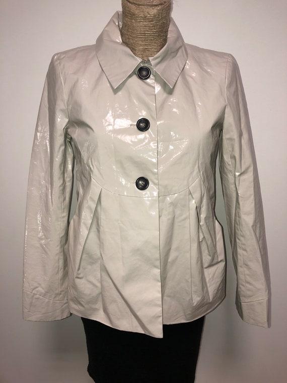 Comptoir des cotonniers grey pvc jacket / vintage