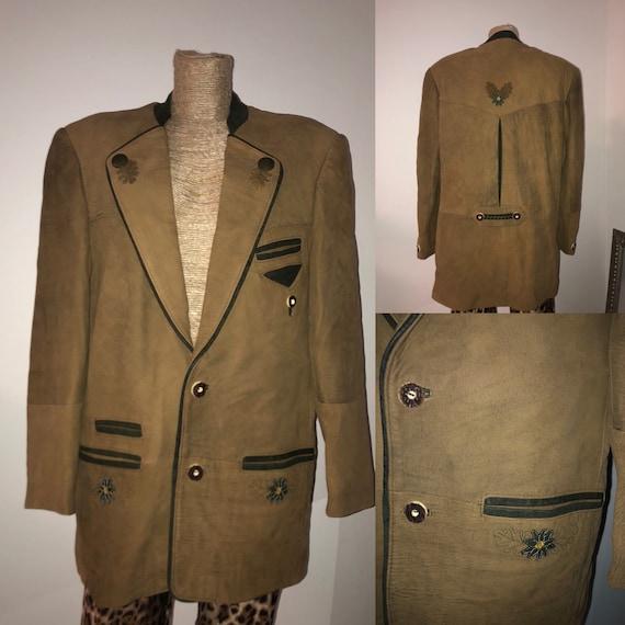Dirndl Bavarian leather jacket / Tracht leather ja