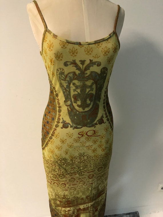 Vintage 90s mesh dress / Y2K tattoo dress / fisht… - image 3