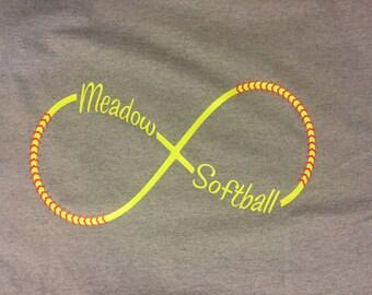 Softball Infinity TShirt Personalized