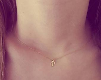 Letter p necklace | Etsy