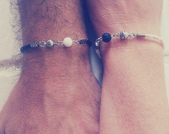 Bracelets For Couples,Matching Bracelets, Black and White,You Complete Me, Couples bracelets,Yin and Yang,Lovers Bracelet,His and Hers