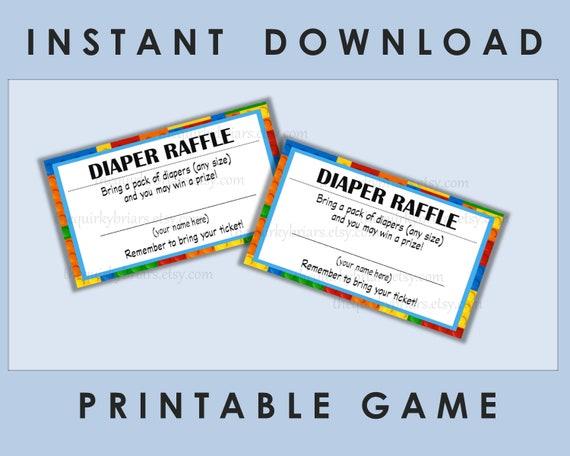 graphic regarding Printable Diaper Raffle Tickets known as Printable Diaper Raffle Tickets / Child Shower Online games / Boy or girl