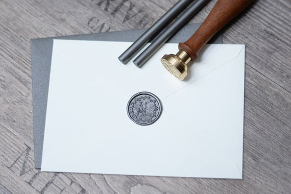 Initials Wax Seal Monogram Stamp Of Two Letters