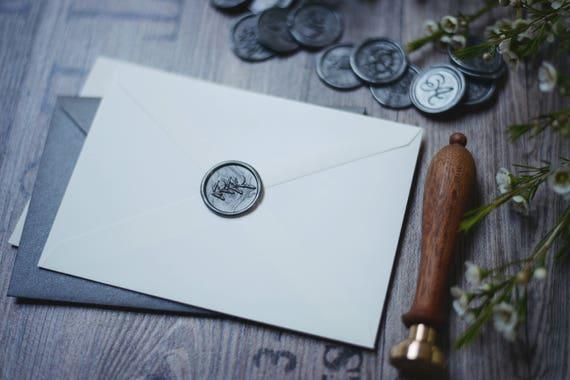 Olivenzweig Handmade Wachs Siegel Aufkleber Hochzeit Selbstklebend Wachs Siegel Aufkleber Wachs Siegel Stempel