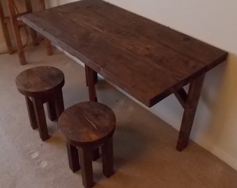rustic space saving drop leaf breakfast bar kitchen table 014. Black Bedroom Furniture Sets. Home Design Ideas