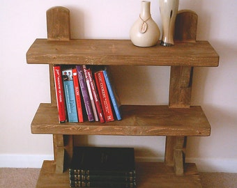 Hand Made Rustic Shelving Unit - Stained in medium jacobean oak 010