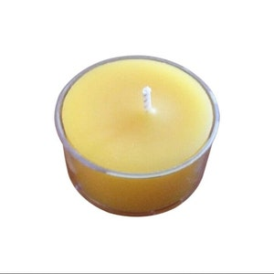 10pk UNSCENTED Natural 100/% Coconut Wax TEA LIGHT CANDLES 60 hrs//pack WEDDINGS