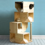 Freestanding Wooden Modular Cat House