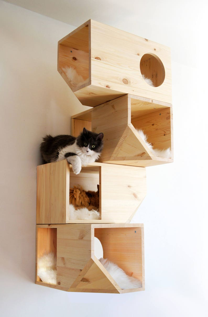 Wooden Modular Cat House image 0
