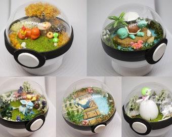 CUSTOM Pokemon Paradise Ball, Diorama, Terrarium Pokeball, choose your Pokemon