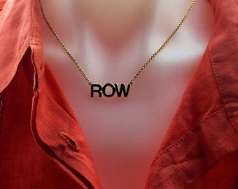 Large ROW or CREW  Necklace