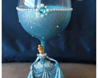 Disney Cinderella Wine Glass
